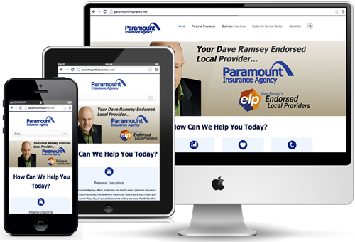 Responsive design insurance websites