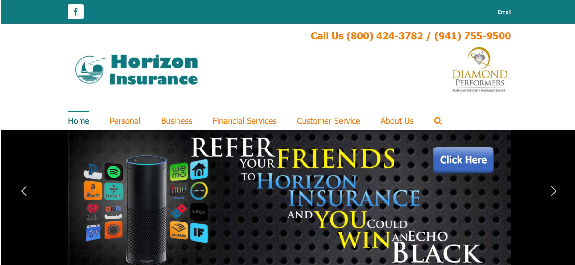 Horizon- Insurance agency websites with Automated marketing