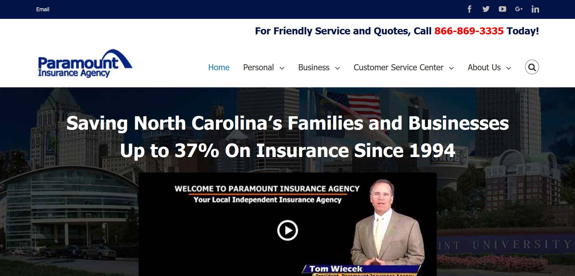 Paramount- Insurance agency websites that create results