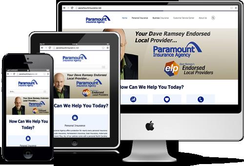 Responsive design insurance websites
