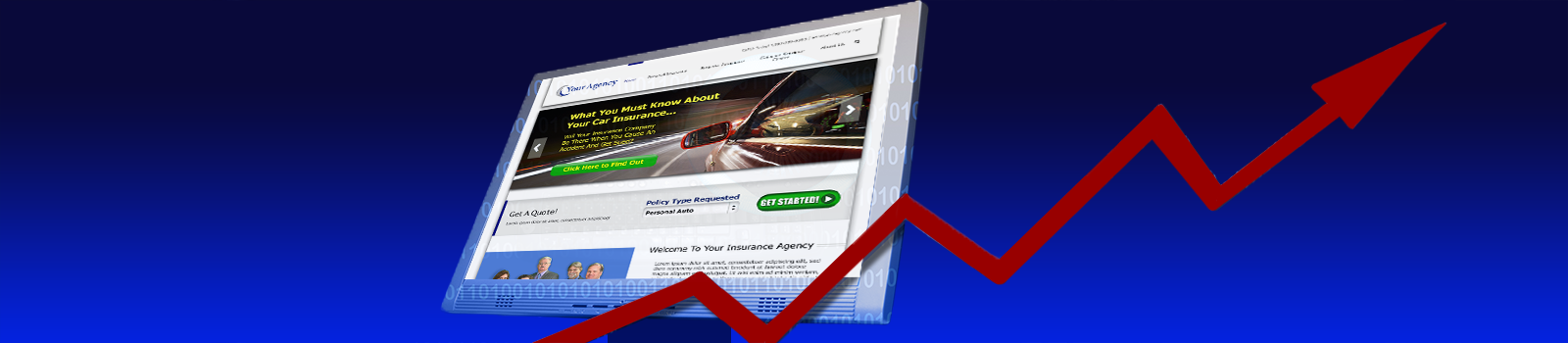 Insurance agency website builder, custom built websites for insurance agencies