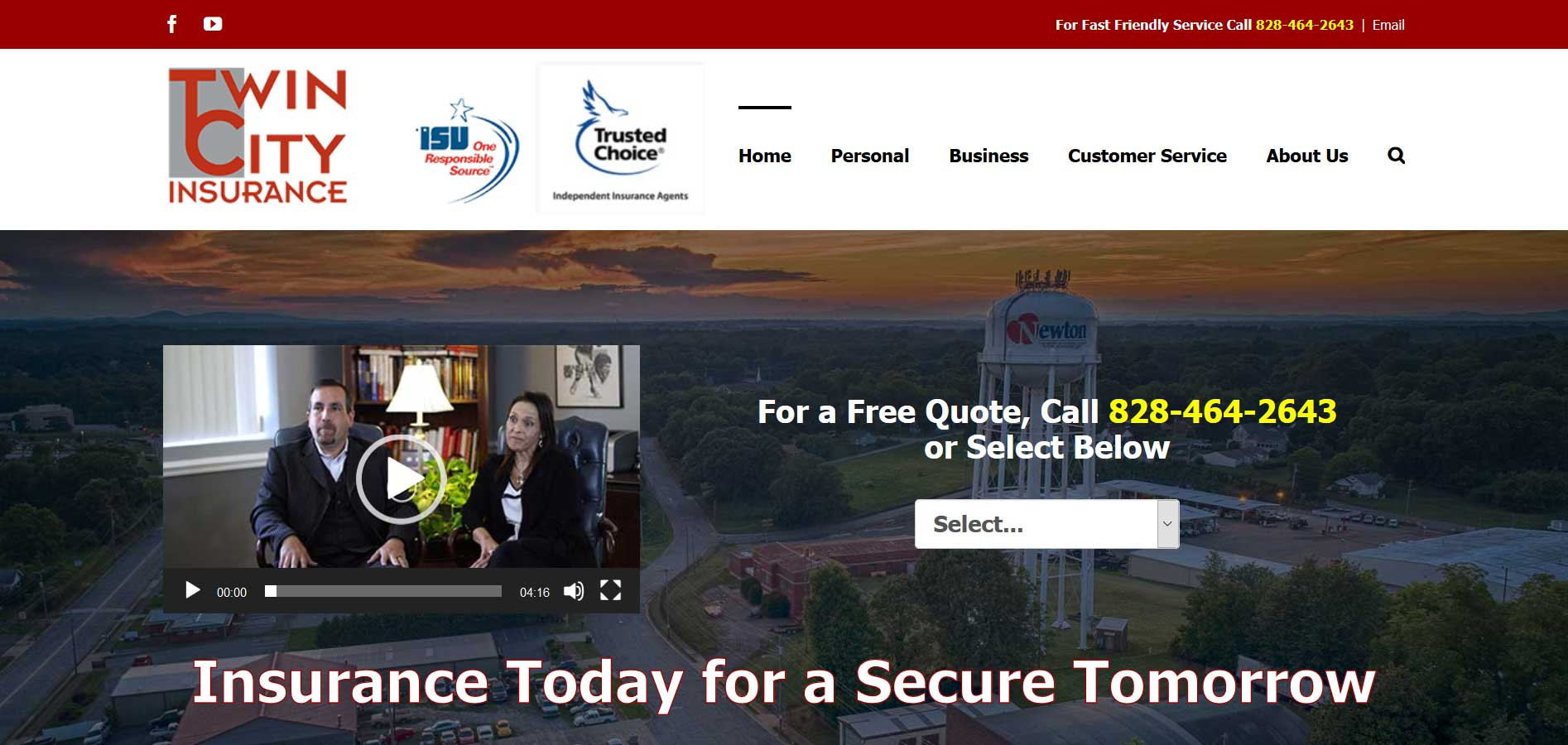 Twin City Insurance Website