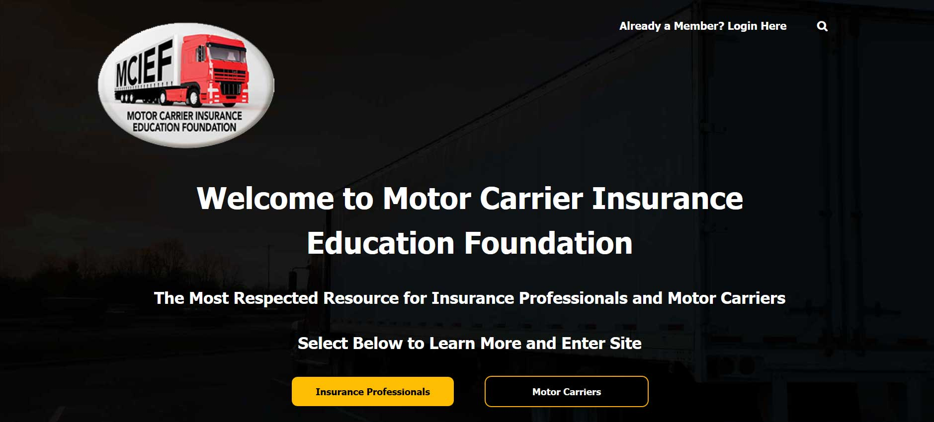 Motor Carrier Insurance Education Foundation Website Screenshot